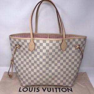 Louis Vuitton Neverfull MM Damier Azur Rose Bal.